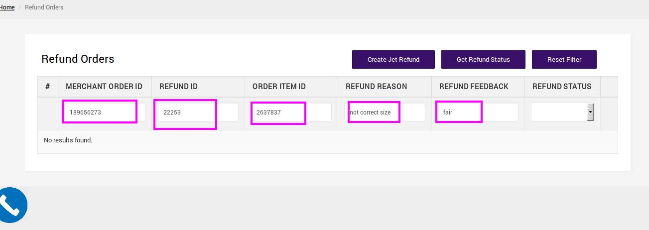Refund Order